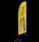 Trade Show Angled Flag