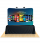 8ft Curved Table Top Tension Fabric Display