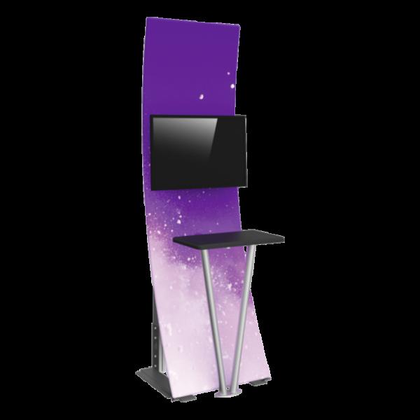Premium Fabric TV Kiosk 01