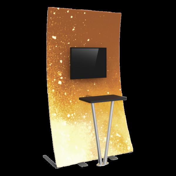 Premium Fabric TV Kiosk 03