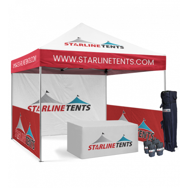 10x10 event tent with logo