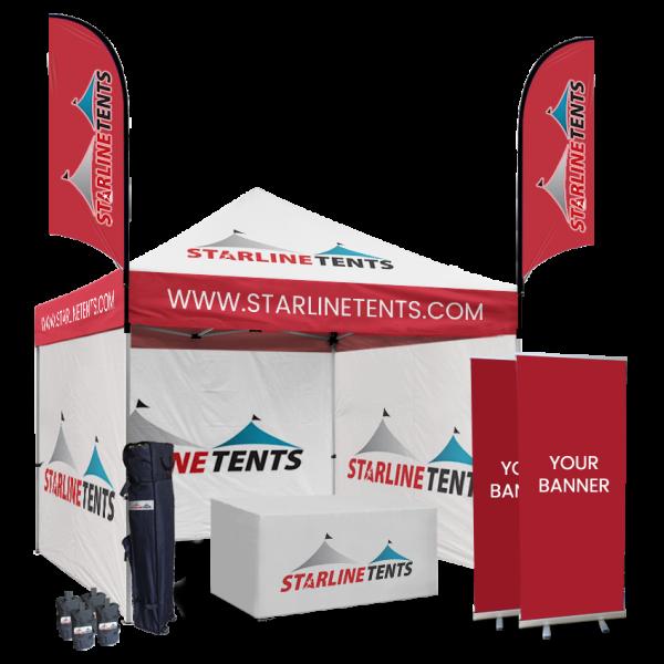 custom 10x10 canopy tent with company logo