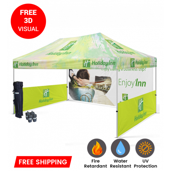 personalized pop up tent