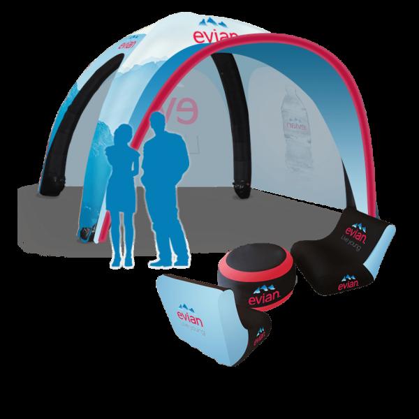 custom logo inflatable tent