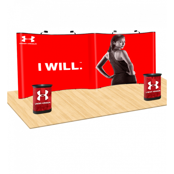20ft Curved Pop Up Display With Cases
