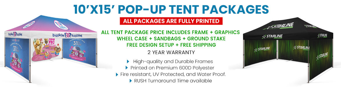 10 X 15 Custom Tent Packages